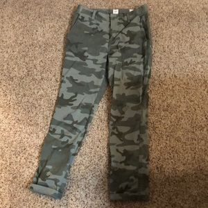 Gap Girlfriend Chino in Camo Print